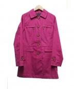 MACKINTOSH PHILOSPHY(マッキントッシュ フィロソフィー)の古着「ゴム引きコート」|ピンク