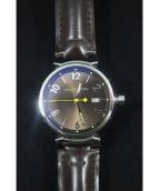 LOUIS VUITTON(ルイ・ヴィトン)の古着「タンブールGM/クォーツ/腕時計」|ブラウン
