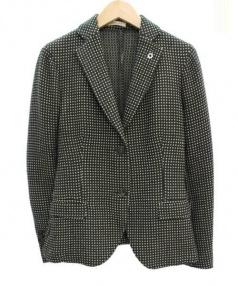 LARDINI(ラルディーニ)の古着「テーラードジャケット」|グリーン