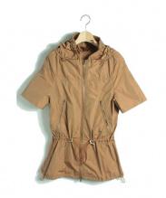 HERNO(ヘルノ)の古着「 フーデッドナイロンジャケット」|キャメル