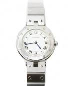 Cartier(カルティエ)の古着「サントスラウンド/レディースウォッチ」|ホワイト