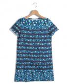 sacai luck(サカイラック)の古着「フラワーサックワンピース」|ブルー