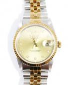 ROLEX(ロレックス)の古着「デイトジャスト 16233G 10Pダイヤ」|シャンパンゴールド