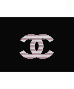 CHANEL(シャネル)の古着「ココマークボーダーブローチ」 ホワイト×ピンク