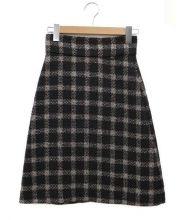 GUCCI(グッチ)の古着「ツイードAラインスカート」|ブラック