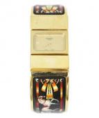 HERMES(エルメス)の古着「ロケ/バングルウォッチ」|ゴールド