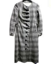 mina perhonen(ミナペルフォネン)の古着「faintノーカラーワンピース」|グレー