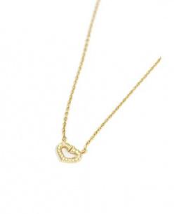 Cartier(カルティエ)の古着「Cハートネックレス/YG/パヴェダイヤ」 ゴールド