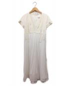CELINE(セリーヌ)の古着「切替ワンピース」|ホワイト