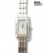 Cartier(カルティエ)の古着「タンクアロンジェラニエール/ダイヤ/K18WG/腕時計」 シルバー