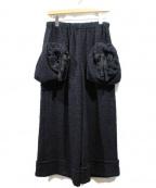 TAO COMME des GARCONS(タオ コムデギャルソン)の古着「起毛デザインポケットパンツ」|ブラック