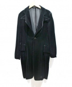 Yohji Yamamoto(ヤマモトヨウジ)の古着「ベロアコート」|ブラック