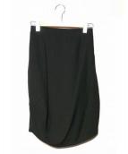 ENFOLD(エンフォルド)の古着「PEダブルクロス立体スカート」|ブラック