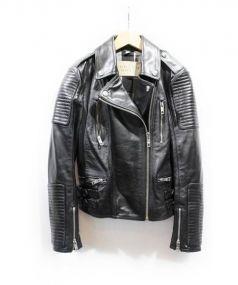 BURBERRY BRIT(バーバリーブリット)の古着「レザーライダースジャケット」|ブラック