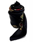 CHANEL(シャネル)の古着「シルクスカーフ」|ブラック