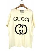 GUCCI(グッチ)の古着「インターロッキングGプリントT-シャツ」|ホワイト