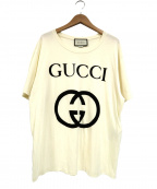 GUCCI()の古着「インターロッキングGプリントT-シャツ」 ホワイト