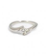 PT950 Diamond Ring 0.20ct(プラチナダイヤモンドリング)の古着「プラチナダイヤモンドリング」|シルバー