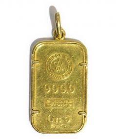 Argor S.A.(アルゴー ヘレウス)の古着「ゴールドバーペンダント」|ゴールド