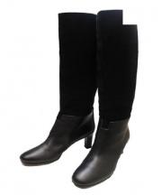 HERMES(エルメス)の古着「ロングスウェードブーツ」 ブラック