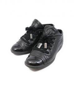 CHANEL(シャネル)の古着「ココマークレザースニーカー」|ブラック