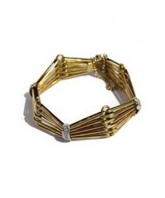 K18 Gold & Diamonds Bracelet(ゴールドダイヤモンドブレスレット)の古着「ブレスレット」|ゴールド