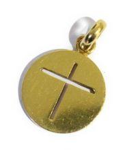 Cartier(カルティエ)の古着「クロスメダルチャーム」|ゴールド