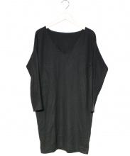 YOKO CHAN(ヨーコチャン)の古着「ニットチュニック」|ブラック