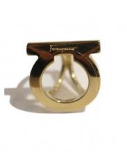 Salvatore Ferragamo(フェラガモ)の古着「スカーフリング」|ゴールド