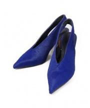 CELINE(セリーヌ)の古着「Vカットミュール」 ブルー