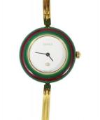 GUCCI(グッチ)の古着「チェンジベゼルウォッチ/腕時計」|ゴールド