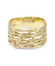 K18 Gold Ring(18金リング)の古着「デザインリング」|ゴールド