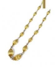 K18 & PT850 Necklace(18金,プラチナネックレス)の古着「ボールデザインコンビネックレス」|ゴールド