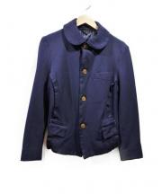 COMME des GARCONS(コムデギャルソン)の古着「ポリエステル縮絨ジャケット」|ネイビー