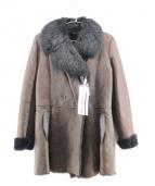 DES PRES(デプレ)の古着「ムートンコート」|ブラウン