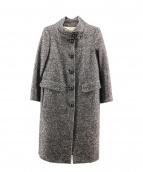 Max Mara(マックスマーラ)の古着「アルパカウールコート」|ブラック