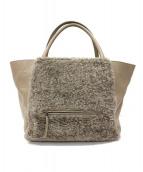 FABIANA FILIPPI(ファビアーナ フィリッピ)の古着「ファー切替ハンドバッグ」|グレー