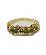 K18 0.05ct Diamonds Ring(18金0.05カラットダイヤモンドリング)の古着「装飾リング」|ゴールド