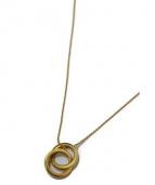 TIFFANY & Co.(ティファニーアンドコー)の古着「リングネックレス/インターロッキングネックレス」 ゴールド