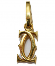 Cartier(カルティエ)の古着「2Cチャーム」|ゴールド