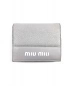 MIU MIU(ミュウミュウ)の古着「2つ折り財布」|グレー
