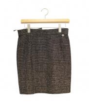 CHANEL(シャネル)の古着「ツイードスカート」|ブラック