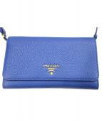 PRADA (プラダ) 2WAYクラッチバッグ ブルー 1MT437 -