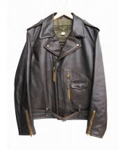 RRL(ダブルアールエル)の古着「ダブルライダースジャケット」|ブラウン
