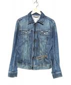 DIESEL(ディーゼル)の古着「ヴィンテージ加工デニムジャケット」|インディゴ