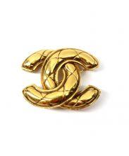 CHANEL(シャネル)の古着「COCOマークブローチ」 ゴールド