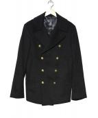 ALEXANDER McQUEEN(アレキサンダーマックイーン)の古着「カシミヤ混Pコート」 ブラック