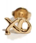 TIFFANY & Co.(ティファニーアンドコー)の古着「ラブ&キス シングル ピアス」|ゴールド