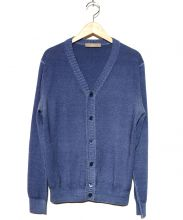 Cruciani(クルチアーニ)の古着「ニットカーディガン」|ブルー