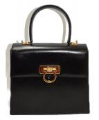 Salvatore Ferragamo(サルヴァトーレ フェラガモ)の古着「2WAYハンドバッグ」|ブラック